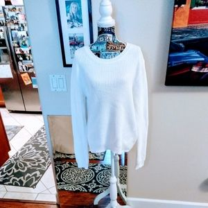 ⬇️❄️Gap Chunky White Pullover Sweater